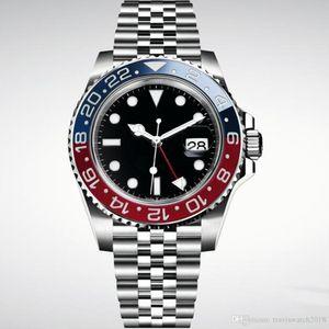 2019 novo mens Relógio de pulso Basel vermelho azul Relógio de Aço Inoxidável 126600 movimento Automático Mens Watch New Arrival frete grátis
