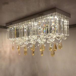 간단한 현대 k9 크리스탈 LED 회랑 나비 천장 조명 홈 데코 망토 발코니 LED 전구 천장 조명기구 LLFA