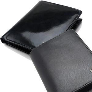 Yeni lüks erkek lüks iş MB hakiki deri cüzdan kart kılıf çanta siyah kısa cüzdan cep klasikleri cüzdan