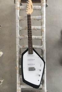 Personalizzato 6 stringhe VOX Mark V Teardrop Phantom Black chitarra elettrica dell'ente solido 3 Single Coil Pickups, Tremolo Cordier, Vintage White sintonizzatori