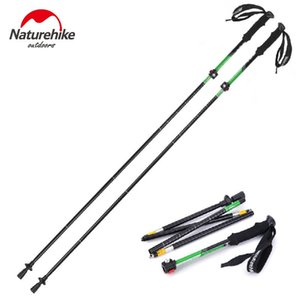 NatureHike Outdoor Ultra-light EVA Handle 5-Section Adjustable Canes Walking Sticks Alpenstock 1pc