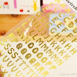 Mini Bronzing Adesivos Carta De Ouro Inglês Paster diy diário agenda decoração originalidade papelaria venda quente 1 75tz ii