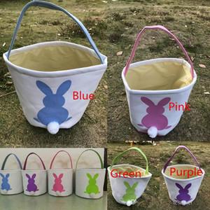 Conejito de Pascua Cestas DIY Arpillera Conejo Orejas Bolsas Poner Huevos Almacenamiento Conejito Yute Conejo Orejas Canasta