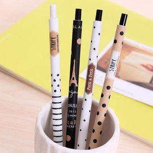 4 Pcs / lot 0.5mm Mignon Kawaii Plastique Mécanique Crayon Belle Points Tour Automatique Stylo Pour Enfant Fournitures Scolaires Livraison Gratuite