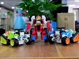guerre Deuxième changement Transforming jouet King Kong Étape déformation moto plage Puzzle jouet enfant robot