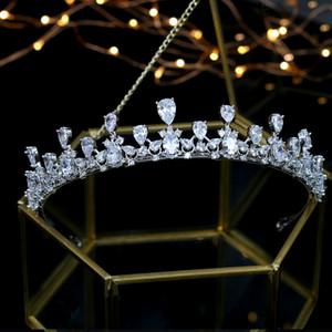 Горячие Продажи Свадебные Циркон Короны Свадебные Диадемы Украшения Для Волос diadema tiara de noiva corona nupcial