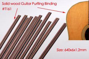 25pcs Guitar Strip Purfling Binding Guitar Body Parts Wood Inlay Guitar Accessory 640x6x1.2mm