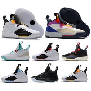 Nouvelle marque Jumpman 33 XXXIII avenir de vol chaussures de basket - ball hommes 33s Zapatillas multicolores noir jaune cadeau de Noël baskets