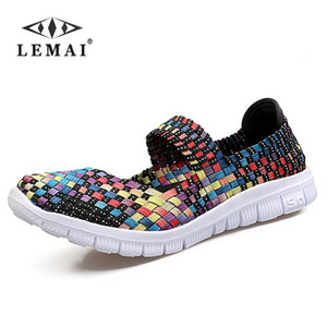 9 colors 2018 Summer Fashion Women Casual Shoes Light Breathable Handmade Woven Shoes Soft Comfortable Women Flats