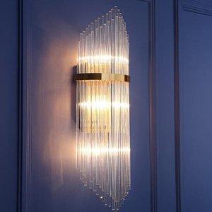 Modern LED K9 Kristal Duvar Lambası aplik koridor oturma odası için Lüks Villa Otel Yatak Odası Başucu Lambası ev Ayna LED duvar armatürleri ışıkları