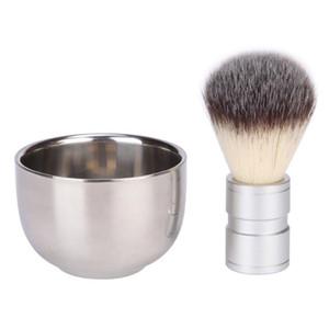 Shave Shaving Navalha de Barbear Com Aço Inoxidável Escova De Barbear Xícara de Escova Caneca Tigela Copo Para Os Homens transporte rápido F1498