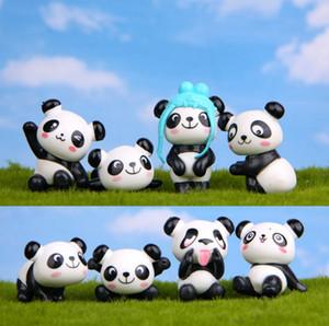 Zakka Nette Mini Puppen Panda DIY Modell Cartoon Anime PVC Action Figure Juguetes Micro Garten Desktop Dekoration Handwerk Kind Geschenk