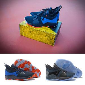 새로운 폴 조지 2 PG II에 대 한 PG II 농구 신발 2S 별이 빛나는 OKC 홈 플레이 스테이션 스포츠 스 니 커 즈 크기 eur 40-46