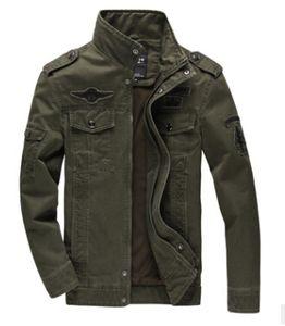 Homens Casual Pilot Exército Jaquetas Outono Inverno bombardeiro vôo Jacket manga comprida Casacos Vestuário Masculino