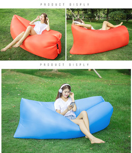 Outdoor Inflatable sofa lazy sleeping bag sofa outdoor camping portable folding beach Bed Fast Inflated Beanbag Furniture
