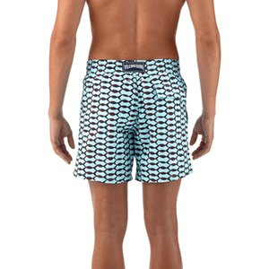 Vilebrequin's Board Shorts Men Turtle Beach Summer 100% Quick Dry Bermuda Masculina Boardshort Man Sexy Gay Sportswear