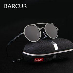 Brand Designer Steampunk Sun glasses Female Retro Aluminum magnesium Sunglasses Men Round Sunglasses Polarizes oculos de sol C18110601