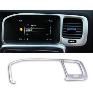 Центральная консоль из нержавеющей стали навигационная рамка украшение крышка отделка для Volvo S60 V60 аксессуары для интерьера автомобиля