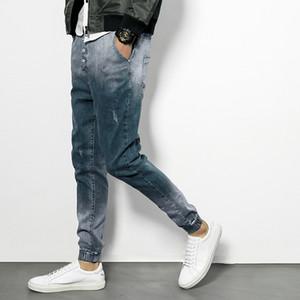 Nuova vendita calda primavera jeans uomo magro casual slin fit alla caviglia-denim denim mens jogger pantaloni pantaloni m-5xl spedizione gratuita