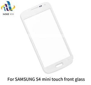 الزجاج الأمامي لسامسونج غالاكسي S4 I9500 / I9505 ، S4 MINI I9195 / I9190 الزجاج الخارجي شاشة تعمل باللمس LCD محول الأرقام لوحة الاستشعار جزء
