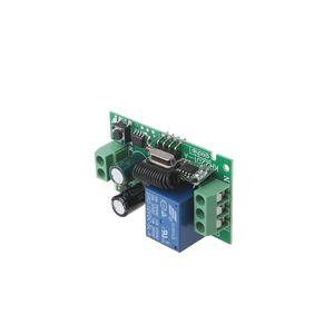 Module de commutation de télécommande sans fil AC 220V 1CH RF 433 MHz avec relais de code d'apprentissage