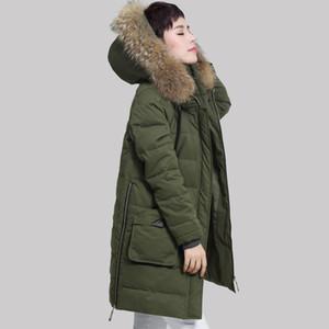 YAGENZ 2017 roupas de inverno novo longo algodão na versão coreana das senhoras de meia-idade tamanho grande jaqueta de espessamento fino