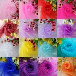 Size 48CM*5M 1pcs/lot Organza Silk Flower Crystal Organza Snow Yarn Fabric For Decoration Wedding Party Decoration 8Z