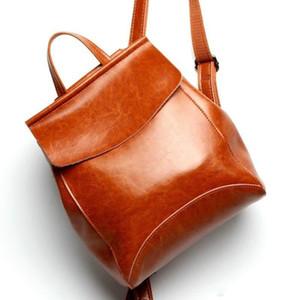Новое прибытие натуральная кожа рюкзаки женщины корейский стиль мода рюкзаки школа рюкзак для девочек Mochila бренд дизайнер сумки