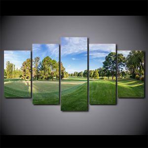 5 Stück HD Printed Canvas Art Golfplatz Leinwand-Malerei Wandbilder für Wohnzimmer Wohnkultur Poster Versand