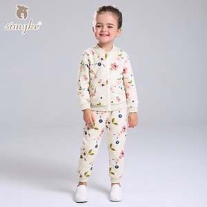 Simyke Children's Casual Sets 2017New 2pcs Set for Girl Jacket+Sport Trousers Toddler Girl Set Kids Clothes Kids Clothing W0085