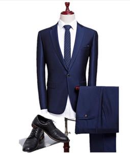 Latex suit men new autumn wedding navy blue suits men blazer men men's navy blue business suits,men's Dress suits size M-4XL