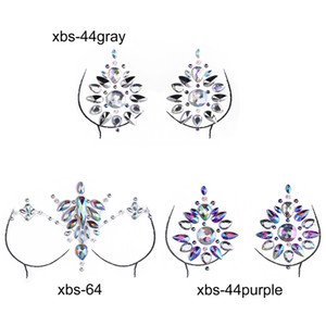 Sex Product Women Bra Breast Pasties Adhesive Stickers Body Paint Accessories Crystal Nipple Stickers Chest