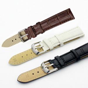 Nouveau Loisirs Durable Mode 18 / 20mm Croco Grain Style PU Montre Bracelet En Cuir LXH