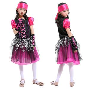 Niños Cloting Girls 'Dance Princess Dresses Trajes de Halloween Cosplay Pirate Thief Costumes Disfraces de rendimiento del día de los niños