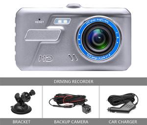 Full HD Auto DVR dashcam Digitalcamcorder Fahrzeugantriebsdatenrekorder 4-Zoll-Touch-Panel 2-Kanal 170 Grad Nachtsicht G-Sensor