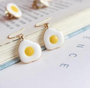 Fried Fashion Earrings Eggs Funny Zinc Accessorie Cute Jewelry Fried Women Beach Cartoon Earring Summer Egg Women Alloy Ukira