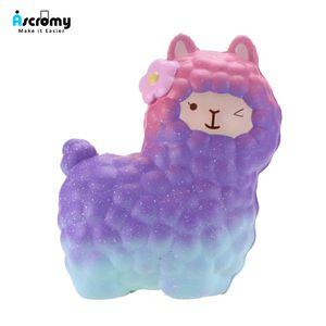 Ascromy Jumbo Alpaka Squishy Spielzeug Squishies Langsam Rising Squeeze Spielzeug Stress Relief Duft Alpaca große niedliche kawaii Tiere