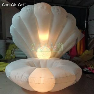 2018 NOVO Chegamos levou concha inflável, gigante crabshell inflável, clamshell para decoração de casamento
