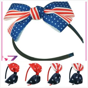 Baby Girls Hair Sticks Star Striped Bandera Nacional de Estados Unidos Imprimir Hair Sticks Party Hair Accessories Indepence Day Dresses 7 Pulgadas