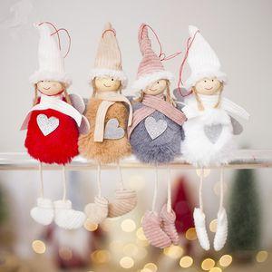 Mignon Ange En Peluche Poupée De Décoration De Noël Pendentif Creative Arbre De Noël Ornements De Noël Décoration Pour La Maison Navidad