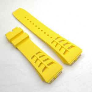 25mm / 20mm 옐로우 럭셔리 고품질 실리콘 / 고무 스트랩 밴드 RICHAD MILE RM50-03 / 01 RM-11 RM011