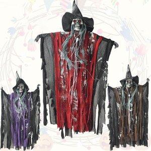 Halloween Hung Ghost Horror Control de voz Ghost / Skull Haunted House Disfraces Sonido de ojos de Scary Ghost Style. juguete luminoso de halloween