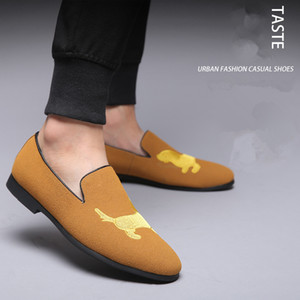 Homens escorregar em sapatos casuais homens mocassins sapatos masculinos formais sapatos de escritório homens zapatos de hombre sepatu pria mannen sétenen sepia pria kulit