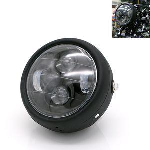 "1pcs 오토바이 헤드 라이트 금속 LED 6.3 ""35W 전조등 포크 튜브 브래킷 할리 Bobber 혼다 GN125 카페 레이서"