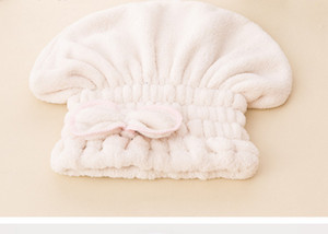 Microfiber Hair Drying Towels Shower Cap Coral Cashmere Shower Cap Thickened Adult Princess Hat Absorbent Wet Hair Dry Cap