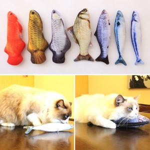 Catnip Oyuncaklar Kediler için Balık Pet Peluş Oyuncaklar Için Yavru minder Çim Bite Chew Scratch Yastık Kediler Malzemeleri Pet Ürünleri