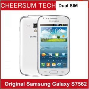 2019 Comercio al por mayor S7562 original para Samsung Galaxy S7572 Duos S7562 tendencia Dual tarjetas SIM 4.0 '' WIFI GPS 5MP teléfono móvil abierto 15PCS DHL