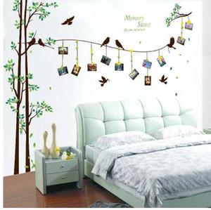 [ZOOYOO] 205 * 290 cm / 81 * 114in foto grande árbol Pegatinas de pared decoración del hogar sala de estar dormitorio 3d arte de la pared calcomanías diy murales familiares