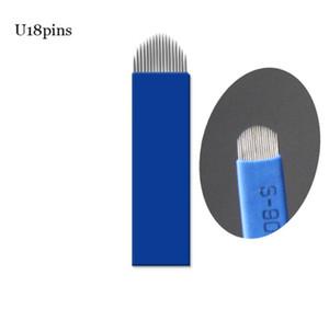 50 PCS Lamina Tebori 18 Pin U Shape Tattoo Needles Permanent Makeup Eyebrow Embroidery Blade For Microblading Manual Pen