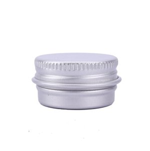 5 ml bálsamo de aluminio latas olla tarro 5g cosméticos bálsamo labial brillo vela envases contenedores con rosca de tornillo LX3126